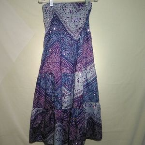 Ingear purple blue strapless dress. S/M. #113